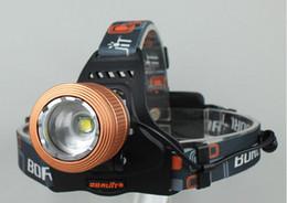 Boruit Headlamps Canada - Boruit 18650 Headlamp 2000 Lumens CREE XM-L T6 LED Lamp Waterproof Headlamp Zoomable Headlight With AC Charger Free Shipping