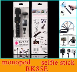 selfie stick monopod zoom Canada - Hot Selling RK85E Aluminum Alloy Bluetooth Selfie kits 7 in 1 Bluetooth Selfie Stick RK 85E Extendable Handheld Bluetooth monopod with Zoom
