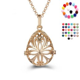 China 2018 Four leaf pearl accessories Disffuser Dolphins Necklace Locket Essential Oil Diffuser Necklaces Hollow out Locket Cage Pendant Necklace suppliers