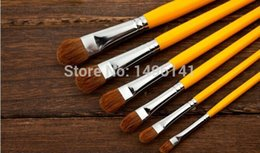 $enCountryForm.capitalKeyWord Australia - Wholesale-826 new special suits Langhao flathead water chalk brush oil paints gouache upscale Langhao