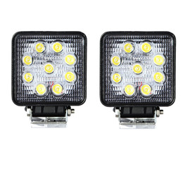 $enCountryForm.capitalKeyWord Canada - 2pcs 4'' inch 27W LED Work Lights For Truck 4X4 Accessories Driving Light Spotlight 12V 24V Car SUV ATV Led Tractor Work Light