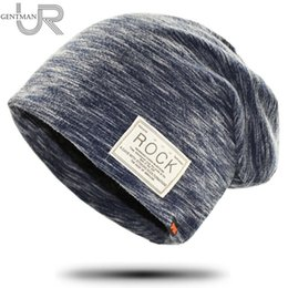 Winter Warm Beanies Canada - New Women And Men ROCK Cloth Mark Hat Plus Cashmere Winter Hat For Women Fashion Warm Beanie 3 Colors Sports Winter Caps