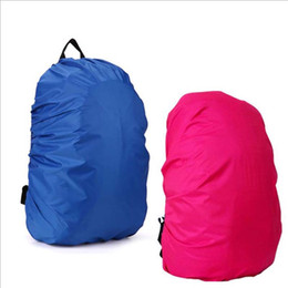 camp poncho UK - Waterproof rain cover for Travel Camping Hiking Outdoor Cycling School Backpack Luggage Bag Dust Rain Cover 5 Colors