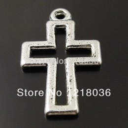 China 200pcs Vintage Silver Hollow Cross Bless Crucifix Charm Pendants For Bracelet Necklace Jewelry Making DIY Accessories Gifts Bijoux M2188 cheap vintage crucifixes suppliers