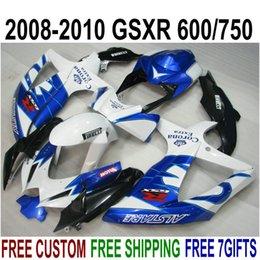$enCountryForm.capitalKeyWord Australia - ABS fairing kit for SUZUKI GSX-R750 GSX-R600 2008 2009 2010 K8 K9 blue white Corona fairings set GSXR 600 750 08-10 TA38
