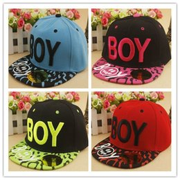 Hot sale SnapBack Canvas kids baseball caps snapback hats High Quality  Korean BOY letter embroidered hip hop cap flat f14f59107b5e