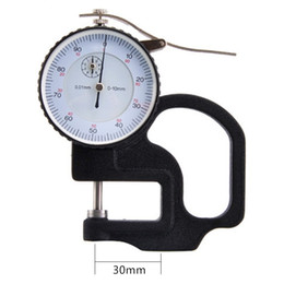 Thickness gauge tool nz buy new thickness gauge tool online from freeshipping 0 10mm 001mm dial thickness gauge high precision metal case portable tester micrometer width measuring tools greentooth Gallery