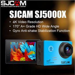 24fps Camera NZ - Original SJCAM Brand SJ5000X WiFi 4K 24fps Gyro Sports HD DV Car DVR 2.0 LCD NTK96660 Diving 30m Waterproof Helmet Action Camera