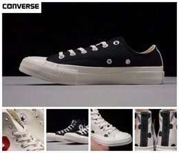 977cba9f78eec4 New Converse Kawakubo Comme des Garcons Shoes 1970s Classic Canvas Casual  Play Jointly Big Eyes High Top Dot Heart CDG Wmens Men Fashion Designer  Sneakers ...