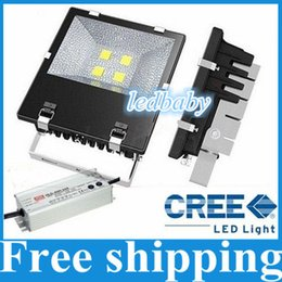 Cree Canopy lights online shopping - NEW IP65 W W W W Outdoor CREE Led Floodlights Led Canopy Lights Gas Station Lighting AC V With Mean Well Drivers