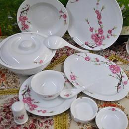 China Chinese Jingdezhen supply 56 high-quality bone china tableware suit  water point peach & Bone China Chinese Tableware Suppliers | Best Bone China Chinese ...