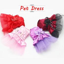 $enCountryForm.capitalKeyWord Canada - 2016 New Summer Pet Clothes Mini Pink Purple Lace Dress Skirt Dogs Princess Dresses Wedding Dress XXS XS For Small Dog Clothing