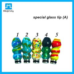 $enCountryForm.capitalKeyWord Canada - Gourd Special glass tip 510 Drip Tips Colorful Pattern Mouthpiece for E Cigarette E Cig Rebuildable Atomizer 10 Style In stock