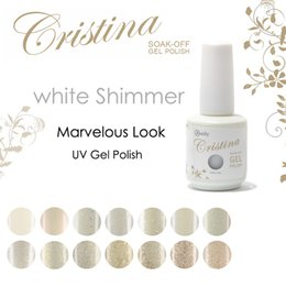 Barato Cristina Uv Gel-Atacado-Crislish Gel unhas olhar Marvelous Shimmer branco <b>Cristina UV Gel</b> polonês 15ml 0,5 oz unhas de gel One piece
