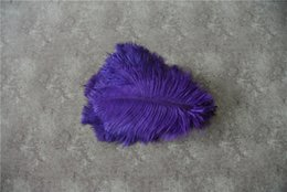 ostrich feather centerpiece purple UK - FREE SHIPPING 100 pcs lot 5-8inch purple Ostrich Feather for wedding centerpiece decor party festive supply event decor