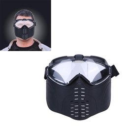 half face head mask UK - Wholesale- Outdoor Tactical mask MTB Bicycle Protective Helmet Offensive protection of the head part Self Defense Equipment Half Face MASK