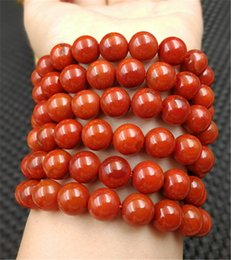 Best Christmas Gifts For Men Australia - China beautiful natural agate bead South red 8mm 108 bracelet string men and women bracelet best gift for Christmas gifts Free Shipping AA02