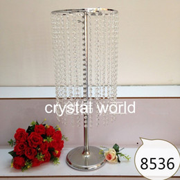 Wholesale Crystal Candle Stand Canada - sliver crystal and mental flower stand centerpieces for wedding decoration 1234
