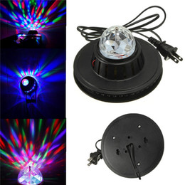 Usa Wholesale Products Canada - 2015 NEW Product Mini Rotating RGB Light 48 LEDs Sunflower LED Stage Light AC100-240V For Party Bar hotel DJ Holiday