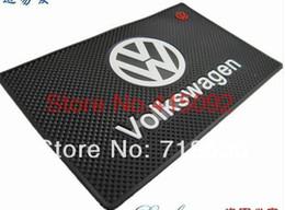 Volkswagen Polo Logo Australia - Volkswagen VW POLO Tiguan Passat B5 B6 B7 Golf MK6 EOS Scirocco Jetta MK5 MK6 Skoda Superb Octavia Fabia Logo latex non-slip Mat