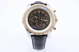 China Free Shipping Mens Quartz Chronograph Big Size 50 Winding Dezel Stainless Steel Watch Mens Black Belt Watches Mens Wristwatch with Calendar cheap black belt watches suppliers