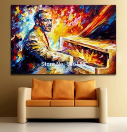China Palette Knife Painting Jazz Musician-Count Basie Picture Printed On Canvas For Home Office Hotel Wall Decor Art suppliers