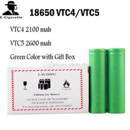 E cig battEriEs online shopping - Top Quality HG2 Q VTC6 mAh INR18650 R HE2 HE4 mAh VTC5 mAh VTC4 Battery E Cig Mod Rechargeable Li ion Cell