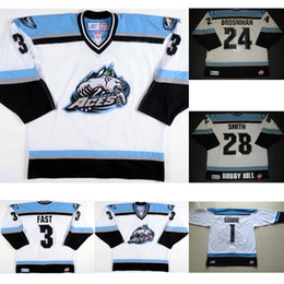 Customized embroidery online shopping - 2017 Customize ECHL Alaska Aces TJ Fast Patrick Brosnihan Mens Womens Kids Embroidery Best quality Cheap Hockey Jerseys Goalit Cut