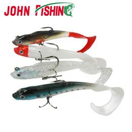T Bait Canada - 5pcs Lead Head Soft Fishing Lure 8.5cm 9.5g Artificial Soft Bait Long T Tail Lure Carp Crankbait with Treble Tackle Hooks