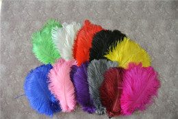 China Wholesale 100 pcs 5-8inch white orange black Hot Pink yellow royal blue turquoise lime green purple burgudy ostrich feather plumes suppliers