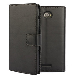 $enCountryForm.capitalKeyWord Canada - Wholeale Black PU Leather Wallet Cover Case For Sony Xperia E4 With Stand Style and Card Holder Phone Bag Free