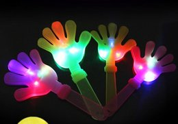 $enCountryForm.capitalKeyWord Canada - 480pcs lot 24cm DHL LED Flashing Hand Toy Led Light Palm Slap Night Party Glowing Clap Props Luminous Plam Noise Maker Concert Bar Supplies
