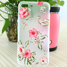 Wholesale cases iphone5 for sale - Group buy Soft TPU Silicone Flower Case for Apple IPhone5 s Se s plus Plus Iphone8 Plus