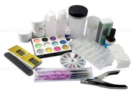 Productos De Cuidado De Salón Al Por Mayor Baratos-Al por mayor-Nail Care Kit salones de manicura del arte del clavo Sistema entero Productos