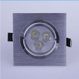 downlights sale NZ - 2015 Hot Sales Square Led Downlight 9W 3X3W 600 Lumens Led Ceiling Light Recessed Downlights Dimmable Warm Natural Cool White AC 110-240V