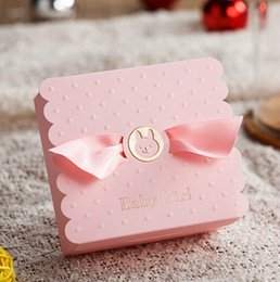 Wholesale  30 Pcs New Creative Baby Girl First Birthday Party Favor Pink  Candy Box Baby Shower Baby Born Birth Announcement Gift Boxes Baby Girl  Shower ...