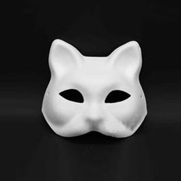 Masque De Chat Cosplay Pas Cher-Mascarade blanc blanc masque chat vénitien Cosplay Costume Party bricolage masque
