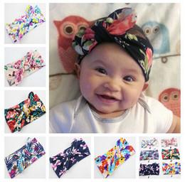 BaBy jersey knit online shopping - baby headbands new style print knitted bow headband baby girls infant headbands baby turban cotton jersey blend headband