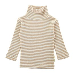 Sous-vêtements En Coton Organique En Gros Pas Cher-Gros-GOTS certificat 1pc Organic Cotton Viscose col roulé à manches longues Sous-vêtements à rayures Long Johns Shirts