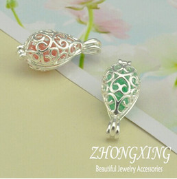 $enCountryForm.capitalKeyWord Canada - Wholesale-P2274,12*15MM Silver Plated Filigree Cage Pendant;Pearl Cage,Tear Drop Brass Sea Glass Lockets,MOQ: 20Pcs Lot
