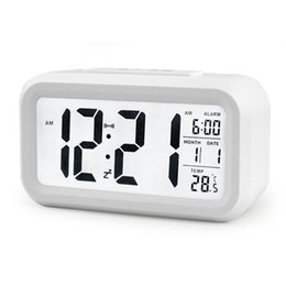 5 Color LED Digital LCD Alarm Clock Time Calendar Thermometer Snooze Backlight Clock