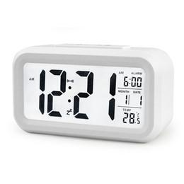 5 Цветной светодиодный цифровой LCD Будильник Часы Календарь Термометр Отсрочка Часы