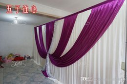 wedding backdrop curtains swag NZ - wedding Drape & pipe set wedding curtain with valance stand with telescopic rods wedding backdrop with swag backdrop frame