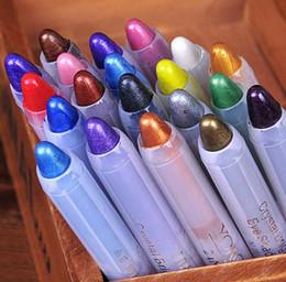 $enCountryForm.capitalKeyWord Canada - Waterproof Shimmer eye shadow pencil fashion women colors bling Luminous eyeliner pencil eyes makeup tools 20colors drop shipping
