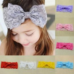 Cute Elastic Headbands Canada - Children hair accessories Hair Band Headband Toddler Baby Cute Girl Kids Elastic Lace Bowknot Headwear Hot