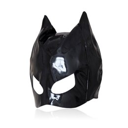 $enCountryForm.capitalKeyWord Canada - Sexy Cat Mask Sexy Cats Eye Mask Catsuit Costume Black Leather Hood Sexy Lingerie Fancy Dress Cosplay Accessory B0301027