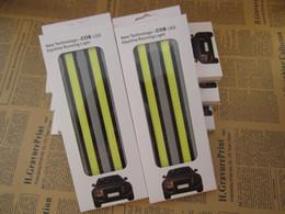 Discount driving lights - Bright Car COB LED Lights Daytime Running Light DRL Fog Driving Lamp white Free Shipping