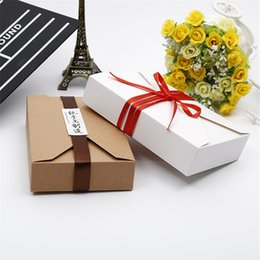 $enCountryForm.capitalKeyWord Canada - wholesale 19.5cmx12.5cmx4cm cookie packaging kraft paper box gift box packaging for bakery food envelope type white brown LZ0755