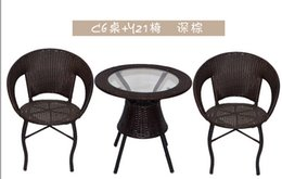 2017 Wicker Living Room Furniture Cany Chair Three Piece Tea Table The Balcony Leisure