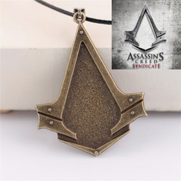 $enCountryForm.capitalKeyWord Canada - Wholesale-New Assassins Creed Syndicate Blade Stainless Steel Unisex Necklaces Collier Homme Male Neckless Colar Masculino Berloques
